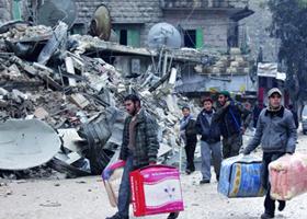 وكالات الأمم المتحدة تدخل مدينة حلب لايصال المساعدات الإنسانية