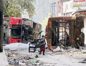 سوريا طفل دمار
