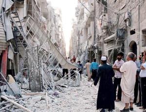 براميل متفجرة على حلب