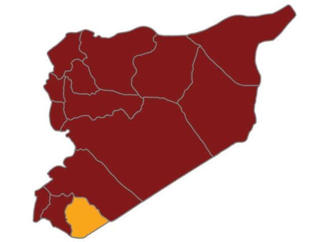سوريا خريطة السويداء
